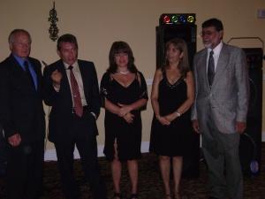 L to R Ron Bryson; Treasurer(USA), Lionel Roman; President(PR), Blanca Mireya Kaiser; Director (Colombia), Connie Giraldo-Silver; Vice President (Colombia) and Herman Santa; Secretary (PR)