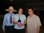 L to R: Jimmy Rivera, Lucy Santa (Winner of the Hat Dance) and Al Feliciano
