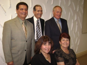 L to R: Al Feliciano; secretary, Jimmy Rivera; president and Ron Bryson; treasurer. Seated Nancy Rozon; vice president and Gladys Piñeiro; director.