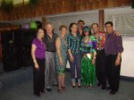 L to R: Isa Bryson, Ron Bryson, Mary Figliola, Marisol Gomez (Winner of 2010 Scholarship), Herman Santa, Nancy Rozon, Jimmy Rivera and Al Feliciano at the Annual Mardi Gras celebration