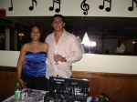 Zenia Ventura and her assistant from D.J. Sabor Latino