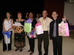 Door Prize winners: L to R: Linda Manzanares, Ida Gallant, Ernestina Monroe, Jimmy Rivera and Gilberto Passebon